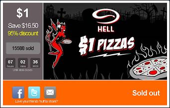 $1 hell pizzas