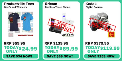 1 Day Productville Tees Oricom Cordless Touch Phone Kodak Digital Camera