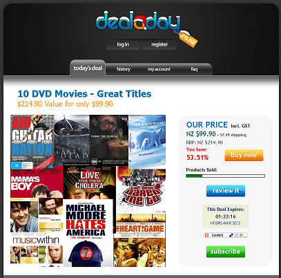Deal a day 10 DVD Movies