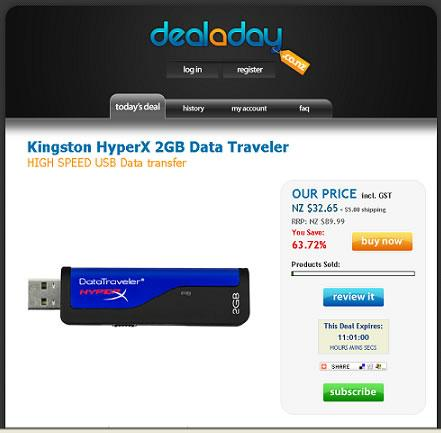 Deal a day Kingston Hyper X USB Drive