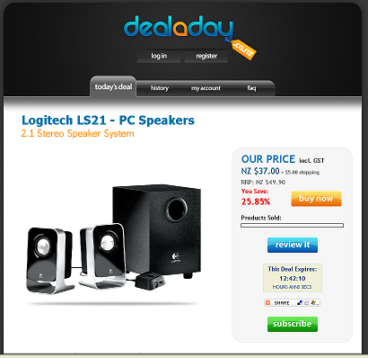 Deal a day Logitech Speakers