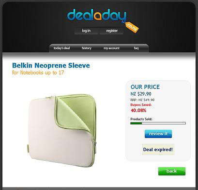 Deal a Day Neoprene Belkin Sleeve Notebook