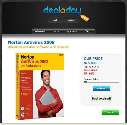 Deal a Day Norton Antivirus