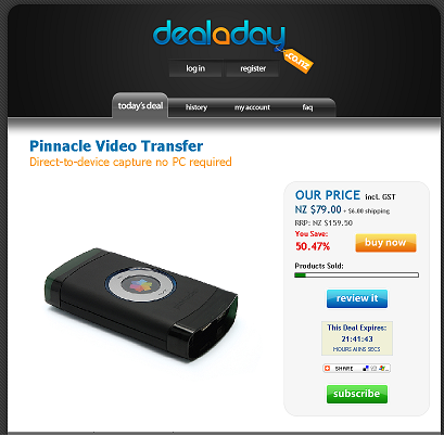 Deal a day Pinnacle Video Transfer