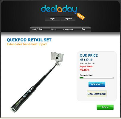 Deal-a-day-Quickpod extendable-tripod