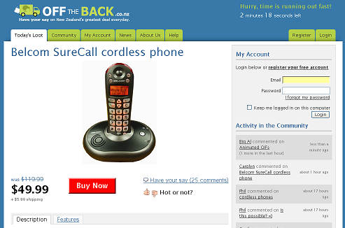 Off The Back Belcom SureCall Cordless Phone