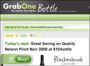 grabone bottle daily deals