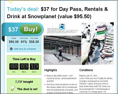 grab one daily deals sites sells $286,000 of snowplanet vouchers in just one day