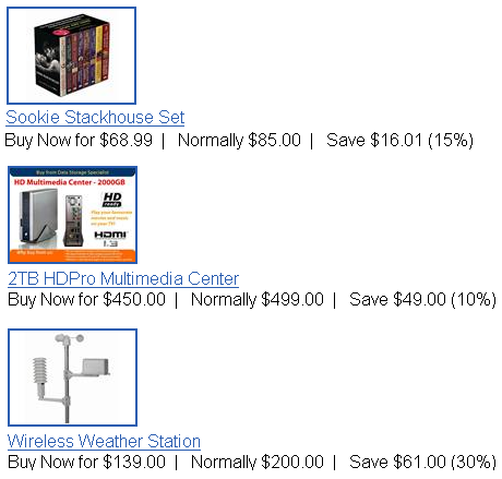 trademe specials with portable hard drive 2 tb, weather station and dvd set