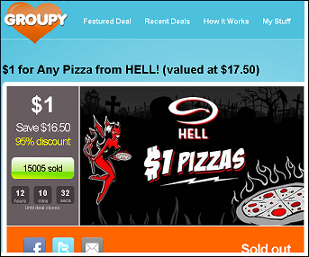 Hell pizza special deals